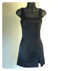 BEBE sz 0 black tunic/ shirt dress with slit tank